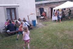 Country večer na zahradě staré školy v Osově. Foto Marie Plecitá